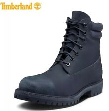 Timberland Men's 6-inch Double Collar Navy Tec Tuff Leather Boots Size 12M