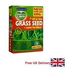 Chatsworth tous dans une herbe semences pelouse engrais 600 G UK Vendeur Livraison Gratuite Au Royaume-Uni