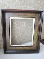 "Vintage Deep WALNUT FRAME,Eastlake Gold Liner,C.1860,Fits 10 1/8"" x 8 1/4"" Art"