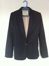 Anthropologie Cartonnier  Women's Size M Dark Gray Jersey Blazer Dotside Jacket