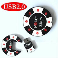 New 8GB Cute Poker Chips Model USB 2.0 Flash Memory Stick Pen Drive High Qualtiy
