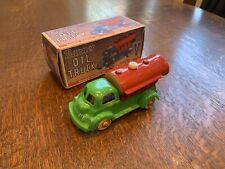Nice! VINTAGE 1950's PLASTIC BANNER OIL TRUCK With Original Box