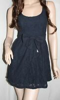NWT! HOLLISTER by Abercrombie Womens Spring Lace Sun Dress Navy S $69.50