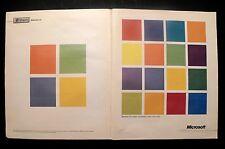 1995 Microsoft Computers Windows 95 Soft Ware Red Green Color Square Print AD
