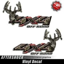 4x4 Truck Decal Camouflage Hunting Sticker Off Road Deer Camo Red