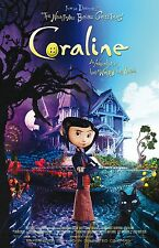 Coraline movie poster print : 11 x 17 inches