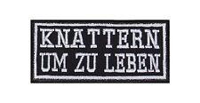 Knattern Um Zu Leben Patch Aufnäher Biker 2 Takt 25 50 Kubik Kmh Mofa Moped V2