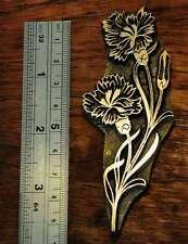 Flower bookbinder brass ornament bookbinding Art Nouveau fleuron flowers rare