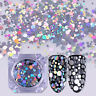 1.5g Nail Flakes Sequins Glitter Holographic Silver Mixed Size Born Pretty Tips