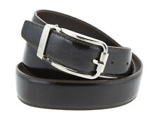 Cintura uomo in pelle spazzolato marrone scuro 105cm (taglia pantalone 40/42 EU)