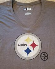 New SEXY Soft Pittsburgh Steelers NFL Football Shirt Gray Womens Small S