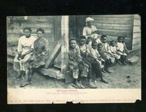 BLACK FAMILY OF 12 WHITAKER FAMILY The Way The Negro Race is Dying Out 1910!!