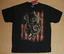 Sons Of Anarchy Reaper American Flag Shirt XL NWT Officially Licensed