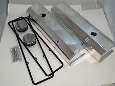 SB Chevy SBC Tall Aluminum Polished Fabricated  Valve Cover Kit 283 - 350 59-86