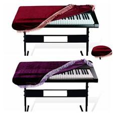 Keyboard Dust Cover Pleuche Tassel Storage Bag For 61 Key Piano Purple Burgundy