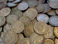 Australian Predecimal Threepence 3D Bulk Silver Coins Collectible Antique 10pc