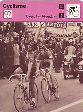 CYCLISME carte cycliste fiche photo TOUR DES FLANDRES W.PLANCKAERT et F.MOSER