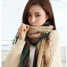 v) Women Lady Girls Soft Long Carriage Scarf Large Wrap Shawl Scarves Stole NEW