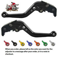 Suzuki TL1000R 1998 - 2003 Short Adjustable Brake & Clutch CNC Levers Black