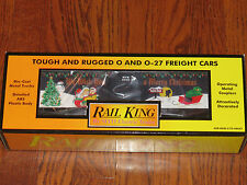 MTH Rail King O Scale MTH Christmas 2000 Holiday Box Car New in Box
