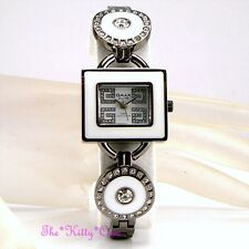 Swiss OMAX Ladies Waterproof Seiko Mt Crystal Hematite White Bracelet Watch O004