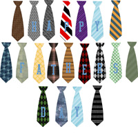 Father's Day Tie Design Embellishments Ties Spell Out HAPPY FATHERS DAY