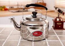 7L Liter Stainless Steel Tea Kettle Hot Water Pot Silver anti-heat handle