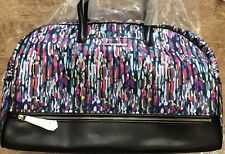 NWT Vera Bradley Trimmed Travel Carry On Bag WATERCOLOR BRUSHSTROKES $198