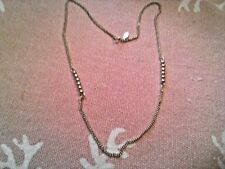 """AVON Gold Tone GOLD BEADED NECKLACE 19"""" VERY GOOD CONDITION"""