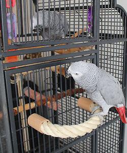Papageien Freisitz SITZSTANGE Sisal SITZSEIL Sittiche Papageienspielzeug *NEU*