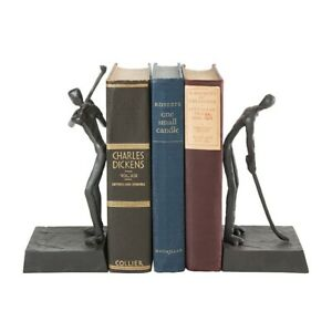 Danya B Golfers Iron Bookend Set, Golf Home and Office Décor - ZI16003