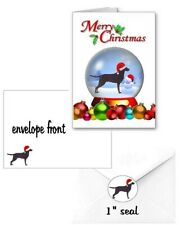 30 Curly Coated Retriever Christmas cards seals envelopes 90 pieces snow globe