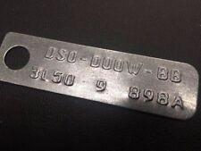 "NEW FORD 9"" INCH DIFF ID TAG SUIT GT XA XB XC XW XY ZC ZD 3.50 RATIO"