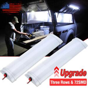 12V LED Interior Light Bar Strip Lights 10W On/off Switch Truck Bed Van Trailer