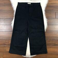 Madewell Women's Size 31 Black High Waist Emmett Crop Wide Leg Pants J8985