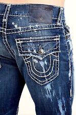 New TRUE RELIGION Slim Fit W Flap Gino Big Stitch Jeans Size W32 $379.99