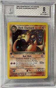 2000 Pokemon Card Dark Charizard 1st Edition Holo Team Rocket BGS 8 !! PSA CGC