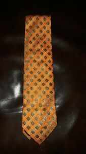 orange men's necktie ermengildo zegna classic