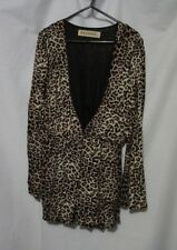 Reverse Leopard Print Jumpsuit Medium