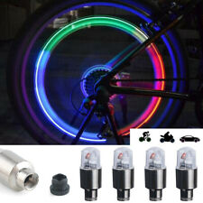 4X LED Car Wheel Tire Air Valve Stem Cap Lamp Waterproof RGB Cap Flash Lights