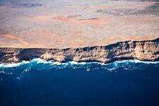 100x65cm Large Australian Landscape Canvas Prints - Aerial of Shark Bay WA
