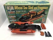 1966 GI JOE Official Sea Sled and Frogman Incomplete With Box VINTAGE HASBRO