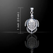 Moveable Turtle .925 Sterling Silver Pendant by Peter Stone