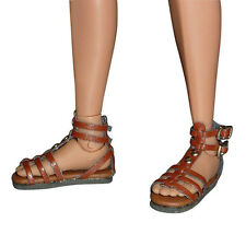 1/6 Scale Phicen, TBLeague, Kumik, NT Female Brown Gladiator Sandal Shoes