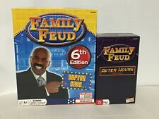 Family Feud 6th Edition & Family Feud After Hours Edition Card Board Games Lot