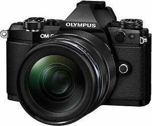 Olympus OM-D E-M5 Mark II Digital Camera + 12-40mm Lens - Black