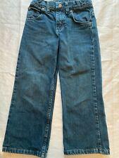Junior Boy`s Jeans Size 6 Adjustable Waist Straight Leg Wrangler Denim