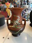 Vintage Roseville Pottery Freesia Vase Orange Brown 122-B