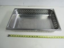 """20"""" X 12"""" X 3-1/2"""" (4"""") STAINLESS  PAN RECTANGLE PERFORATED FULL SIZE (LOT OF 2)"""