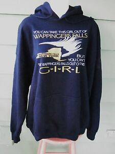 Can't Take WAPPINGERS FALLS NY Out of the Girl XL Hoody SWEATSHIRT Fleece Lined